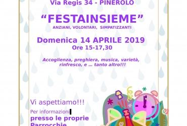 """""""FESTAINSIEME"""" domenica 14 aprile ore 15,00 – 17,30 Pinerolo"""